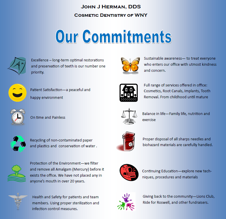 Our Commitments - Cosmetic Dentistry